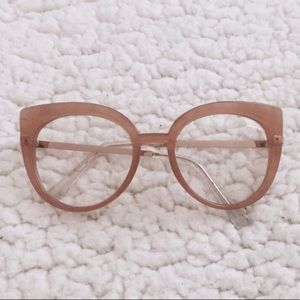 Nude Tone Mod Cat Eye Glasses